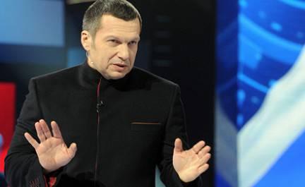 <figcaption>The host, Vladimir Soloviev</figcaption>