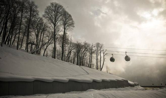 <figcaption>To cope with the influx of skiers, the Rosa Khutor resort has raised the price of ski passes 43 percent from September levels</figcaption>