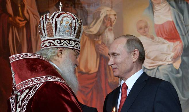 <figcaption>Patriarch Kirill and President Putin</figcaption>