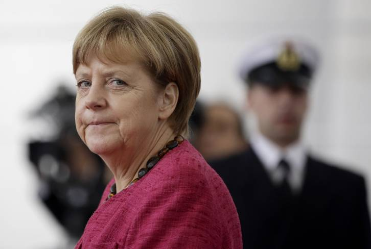<figcaption>Ms Merkel starts from a better position than at the outset of the crisis. But the ground is beginning to shake under her feet.</figcaption>