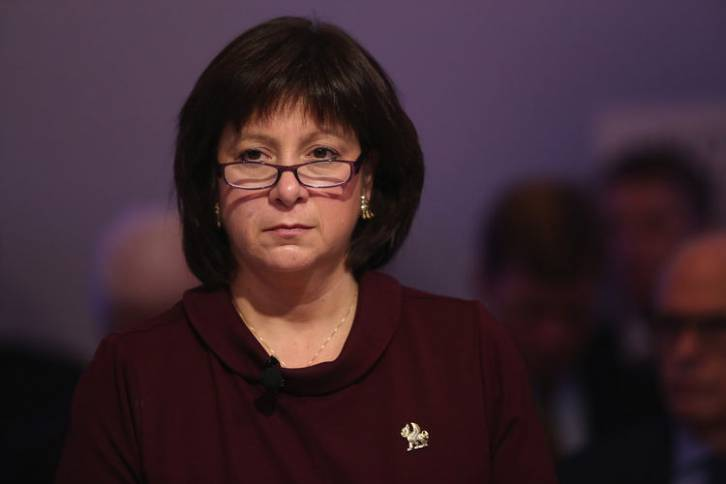 <figcaption>Ukraine's Finance Minister Natalie Jaresko said on March 24, output shrank 7 to 10 percent in the first quarter   Photo: Chris Ratcliffe, Bloomberg</figcaption>
