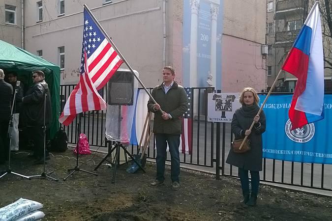 <figcaption>Простые американцы замечательно относятся к русским. Но не они определяют политику своей страны | Фото: Алексей Панкин</figcaption>