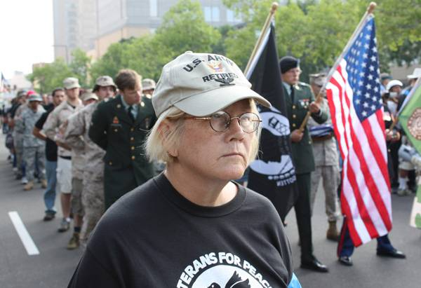 <figcaption>Retired US colonel and diplomat Ann Wright will be part of this peace delegation</figcaption>