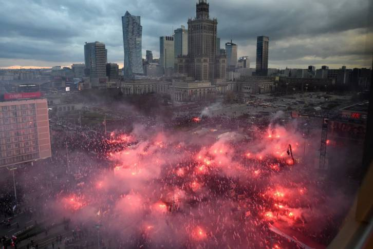 <figcaption>Polish Independence Day nationalist march</figcaption>