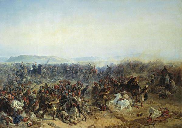 <figcaption>A scene from the Crimean War</figcaption>
