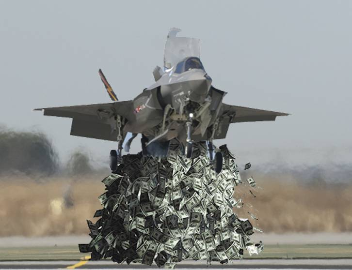 <figcaption>'Russian radar will never detect all this money being flushed down the toilet'</figcaption>
