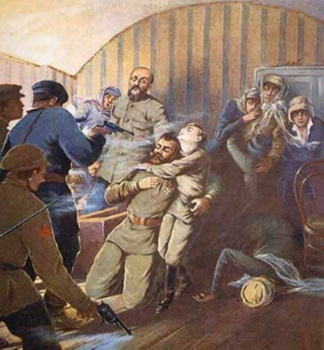 <figcaption>The Tsar&#039;s entire family, including his 5 children, relatives, and loyal servants were brutally murdered on Lenin&#039;s orders and Trotsky&#039;s  insistence.  In total, 20 Romanovs and 18 household and entourage members were executed. (Click to enlarge)</figcaption>