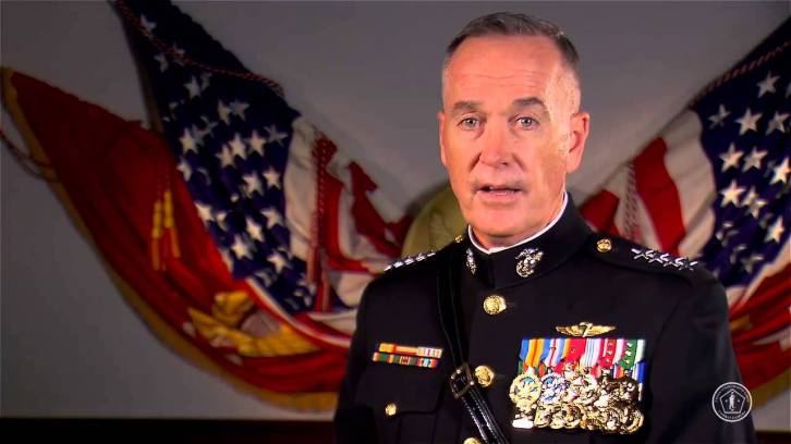 <figcaption>Joint Chief Dunford.  Deserves a medal for neocon ass-kissing</figcaption>