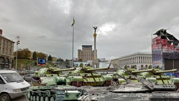 <figcaption>In Kiev, total gridlock</figcaption>