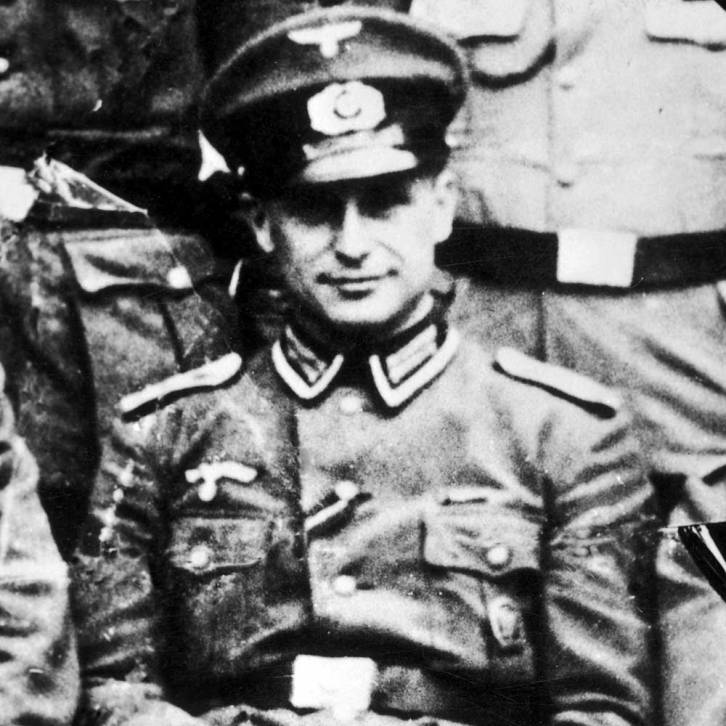 <figcaption>Klaus Barbie was a vicious Nazi who was recruited by US Intelligence after the war because he was good at torturing Communists</figcaption>