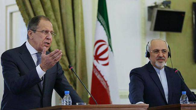 <figcaption>Lavrov and Zarif, advocating for terrible things such as 'evidence'</figcaption>