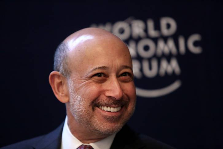 <figcaption>Lloyd Blankfein, the head of Goldman Sachs.  On November 8 the American voter will decide whether to bail him out (again)</figcaption>