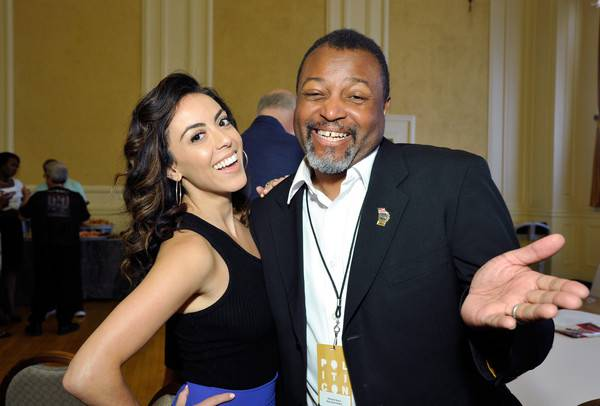 <figcaption>MSNBC's 'expert' (right), yucking it up at politicon 2017</figcaption>