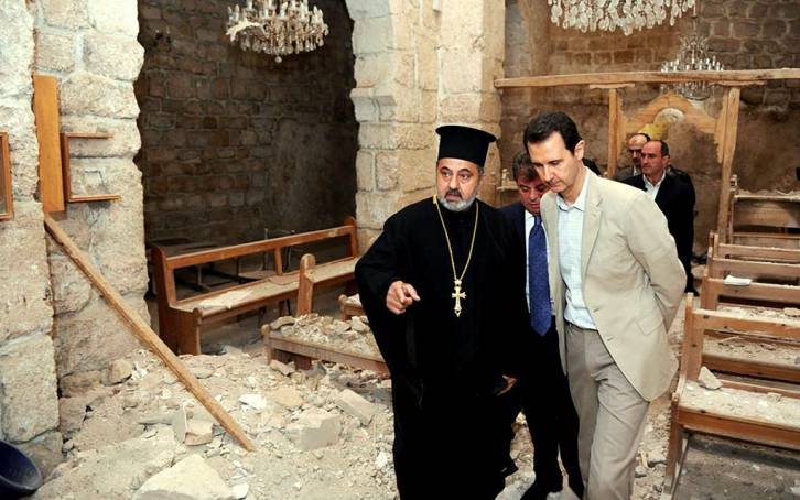 "Syria, Iran and Russia are protecting Christians from the West's ""moderate rebels"""