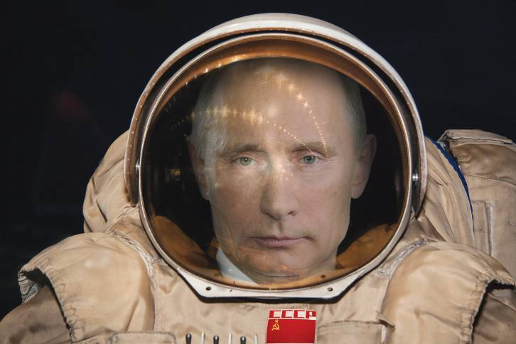 <figcaption>Putin in space: nothing to do with our article, but oh well</figcaption>