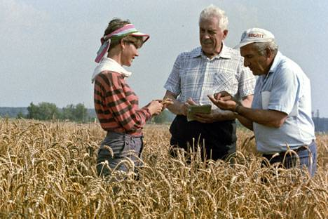 <figcaption>Today, Russia is one of the six leading producers of wheat. Source: RIA Novosti / Vladimir Akimov</figcaption>
