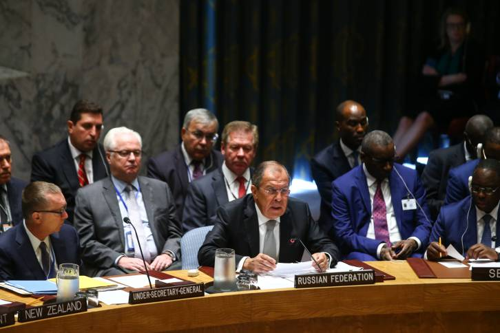 <figcaption>Lavrov didn't mince his words during his address to the Security Council</figcaption>