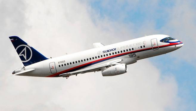 A Sukhoi Superjet airliner | Photo: Wikicommons
