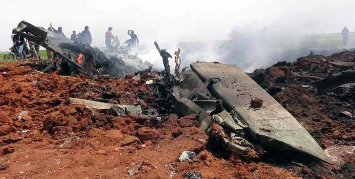 <figcaption>The 2nd Syrian plane lost in April. Who supplied Al Qaeda the missiles?</figcaption>