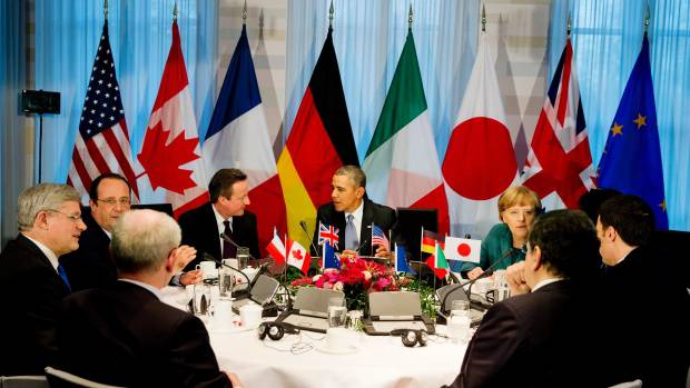 <figcaption>The United States told the Berlin session that the G7 must ensure coordination to prepare for a possible invocation of new sanctions</figcaption>