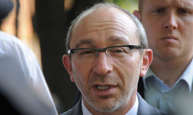 <figcaption>Gennady Kernes was shot in the back during a run last April, and is now under investigation</figcaption>