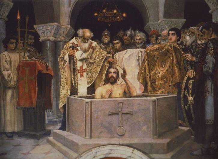 <figcaption>Chersonesus Prince Vladimir Sviatoslavich the Great was baptized in Crimea, and then he converted Russia</figcaption>