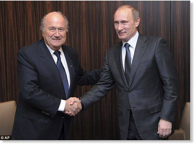 <figcaption>Blatter: targeted for consorting with the enemy   Photo: AP</figcaption>