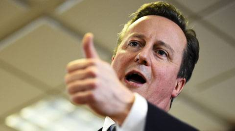 <figcaption>Cameron will keep the UK in the EU, but only if Europe continues to snub Russia</figcaption>