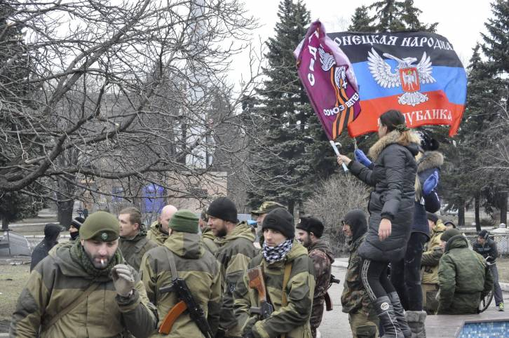 <figcaption>Locals blame Kiev for their suffering</figcaption>