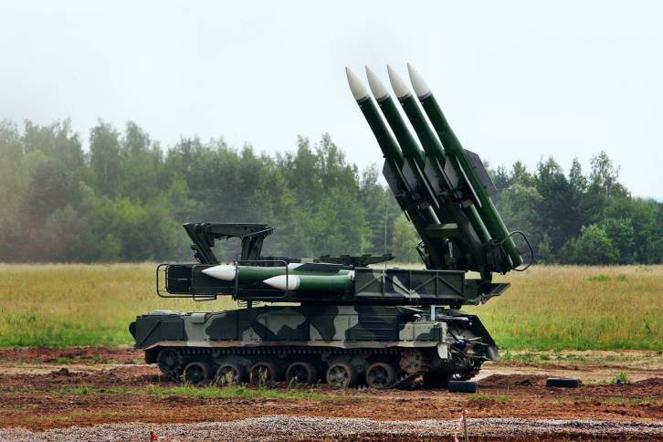 <figcaption>Russian-made Buk anti-missile battery.</figcaption>