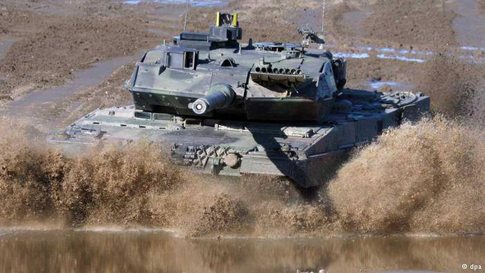 <figcaption>Just what this conflict needs: German tanks</figcaption>