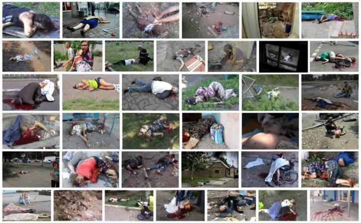 <figcaption>Victims of Ukrainian indiscriminate shelling</figcaption>
