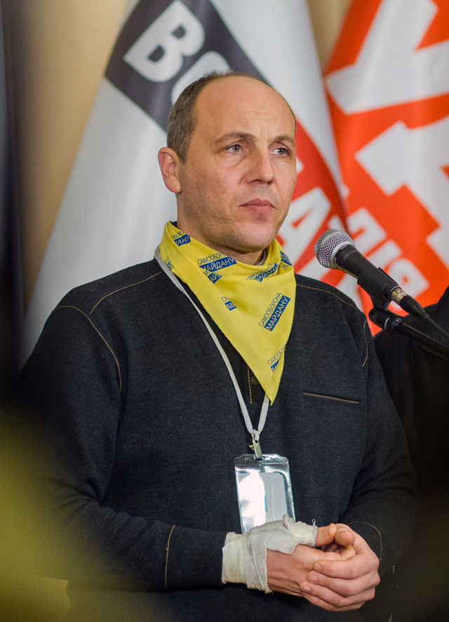 <figcaption>Parubiy is affiliated with various ultra-national movements in the Ukraine.</figcaption>