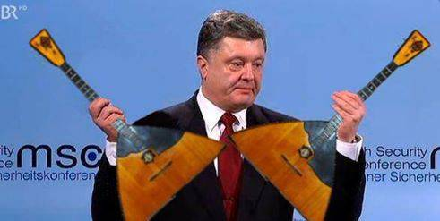 <figcaption>Poroshenko displays Russian military hardware</figcaption>