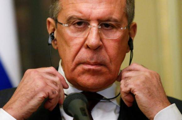 <figcaption>Russian Foreign Minister Sergei Lavrov </figcaption>