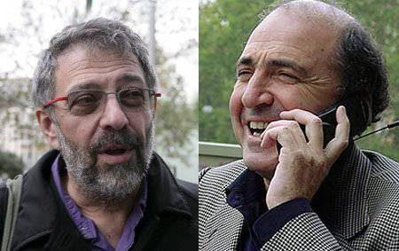 <figcaption>Alex Goldfarb (left), Berezovsky's right hand man, admitted he had fabricated Litvinenko's 'death bed statement' but contuniues to quote the fake as a 'document'</figcaption>