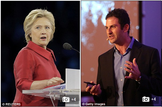 <figcaption>Jared Cohen (right) emailed several members of Hillary's team in 2012 with the plan to overthrow Syrian President Bashar al-Assad using a mapping tool.It was forwarded to Clinton by her deputy chief of staff with the note: 'FYI — this is pretty cool idea'</figcaption>
