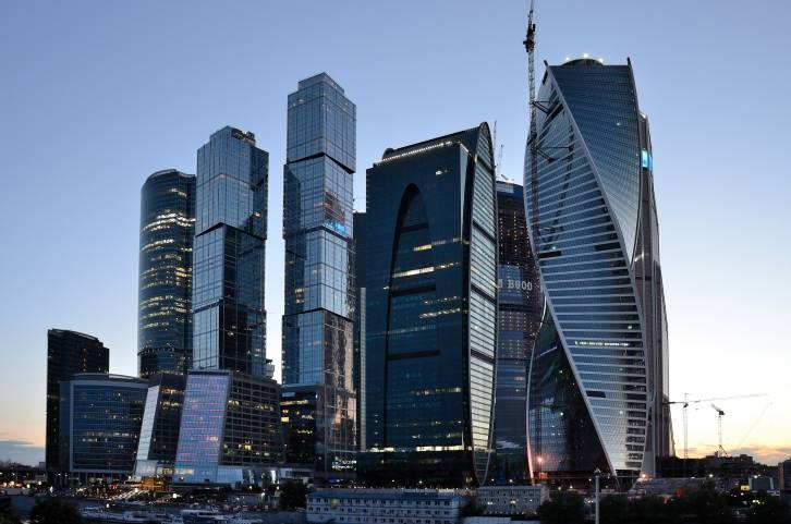 <figcaption>Moscow's financial center</figcaption>