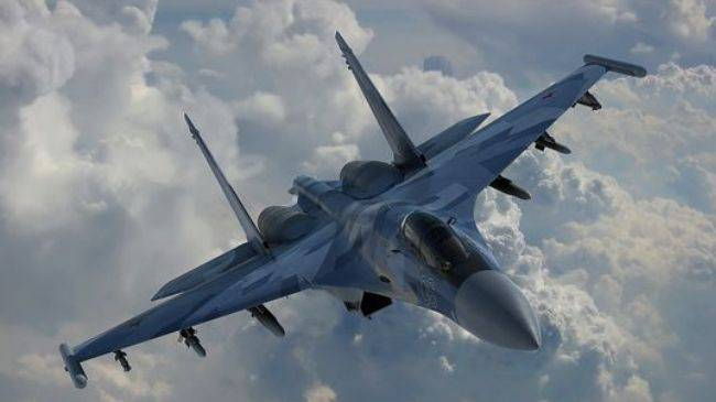 <figcaption>A Russian Su-35S fighter jet</figcaption>