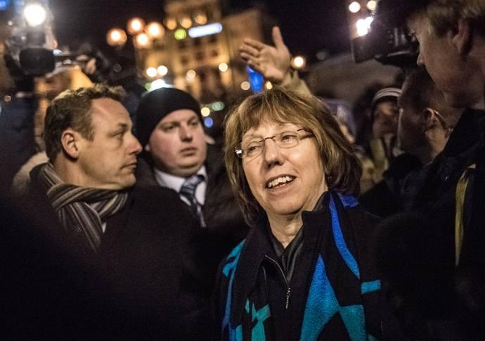 <figcaption>Баронесса Кэтрин Эштон - лицо ЕС на Майдане</figcaption>