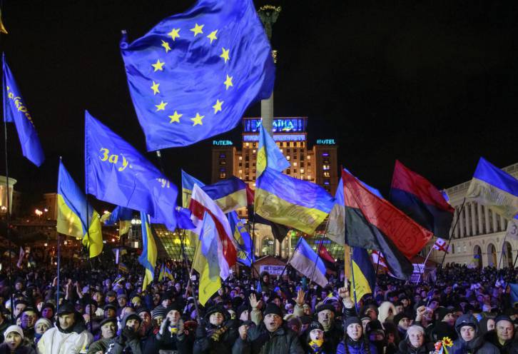 <figcaption>Euromaidan in Kiev in December 2013 | Photo: Gleb Garanich, Reuters</figcaption>