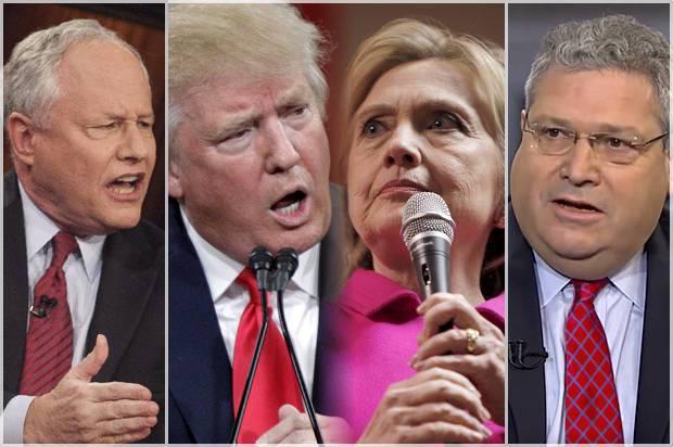 <figcaption>Bill Kristol, Donald Trump, Hillary Clinton, Robert Kagan</figcaption>