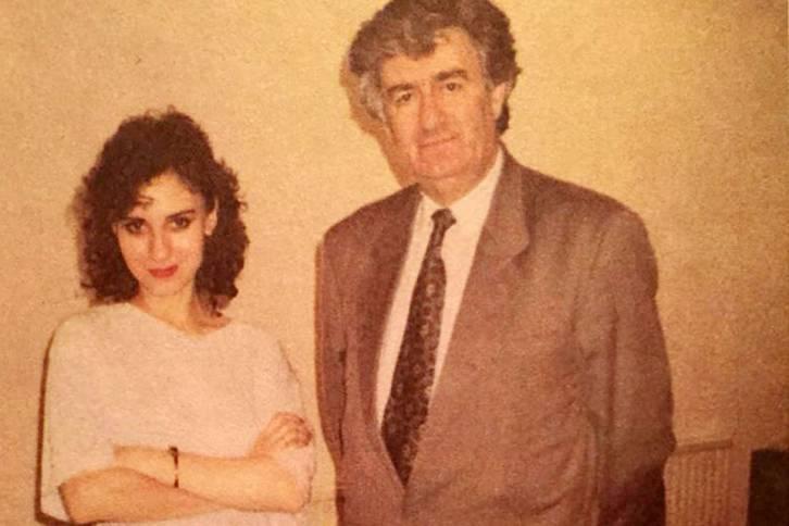 <figcaption>Radovan Karadjic and Daria Aslamova, 1993</figcaption>