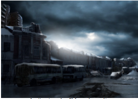 """<figcaption>An """"untouched"""" American city  In nuclear winter</figcaption>"""