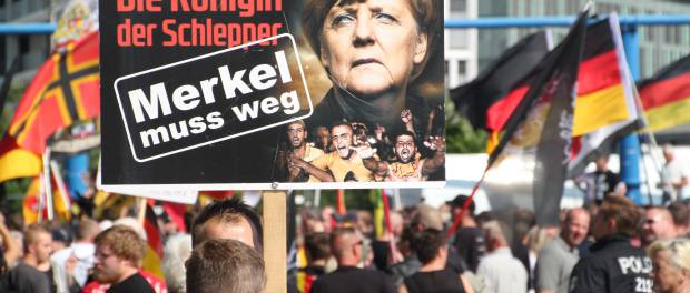 "<figcaption>""Merkel must go"", more Germans see Merkel as the problem</figcaption>"