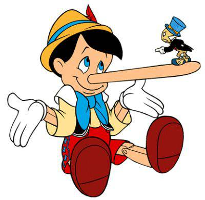 <figcaption>But, if I believe all my lies, will my nose still keep growing?</figcaption>