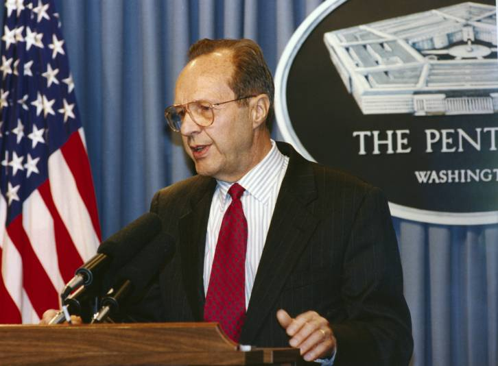 <figcaption>William Perry, Secretary of Defense in the Clinton administration</figcaption>