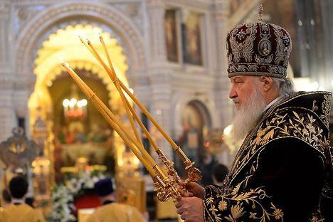 <figcaption>Patriarch Kirill of Moscow and All Russia. Source: Sergei Pyatakov / RIA Novosti</figcaption>