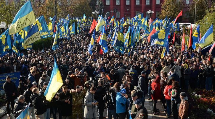 <figcaption>Activists of the nationalist organizations, Ukraine</figcaption>