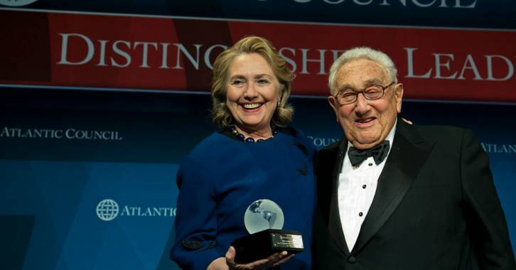 <figcaption>It is no coincidence that the Neocons love her.  Here, rejoicing with another celebrated country-destroyer and needless war promoter.  (Click to enlarge)</figcaption>